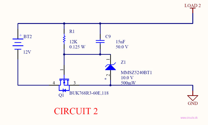Reverse current / battery polarity protection \u2022 Circuits