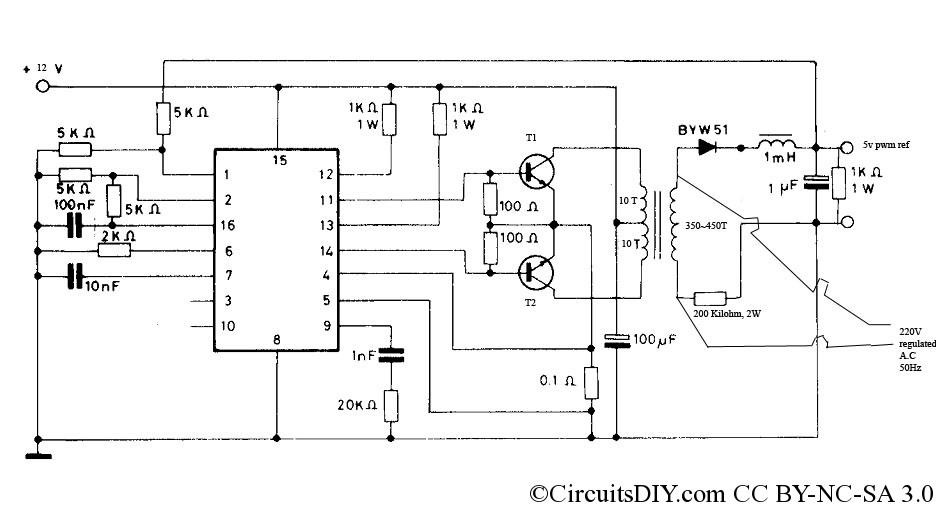 PWM inverter circuit - 500 Watt low cost \u2013 Circuits DIY