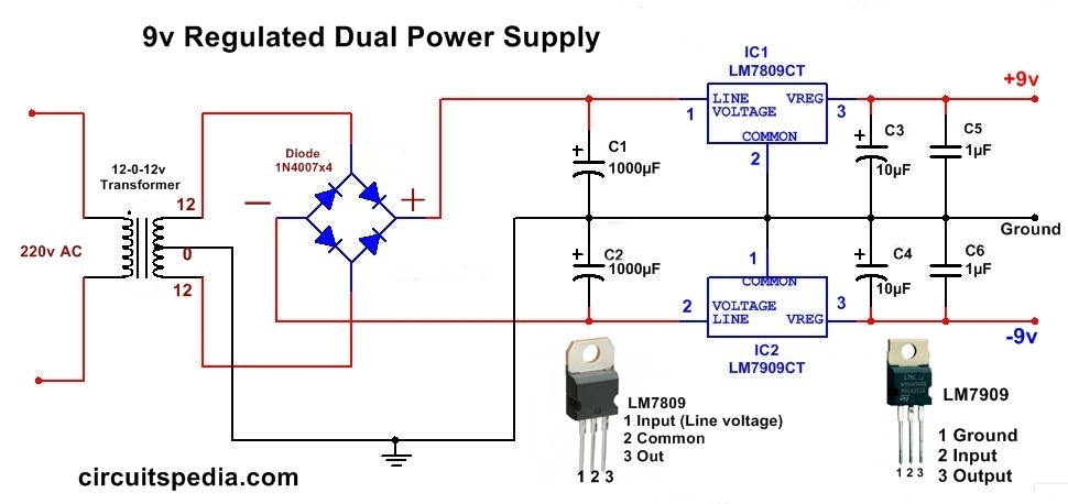 Circuit Diagram Of 9 Volt Power Supply Wiring Diagram
