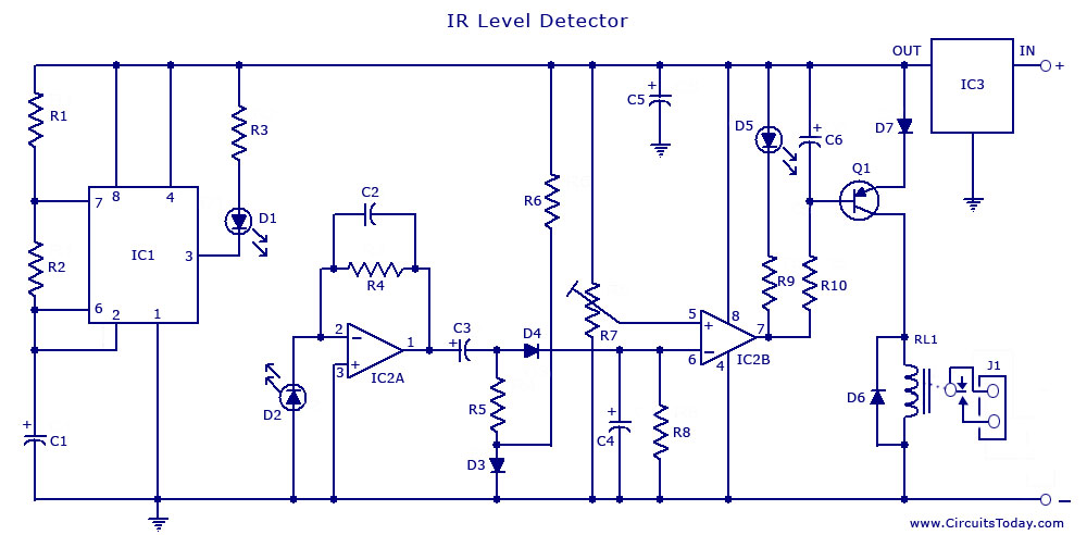 Garage Door Switch Schematics Ir Transmitter And Receiver For Obstacle Detection