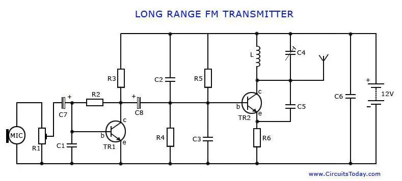 200m Fm Transmitter Circuit manual guide wiring diagram