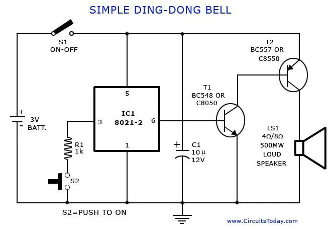 Electronic Bell Circuit Diagram Wiring Diagram