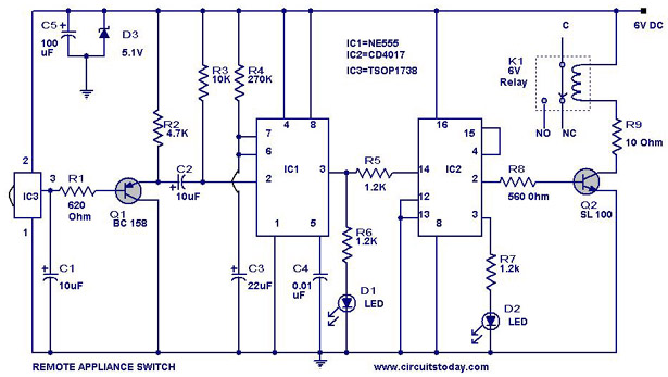 Mobile Home Thermostat Wiring Diagram Remote Controlled Appliance Switch Circuit Final Year