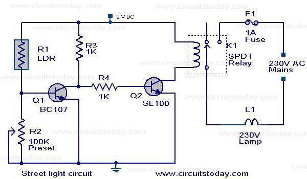Automatic Light Circuit Index listing of wiring diagrams