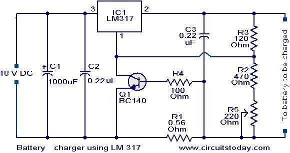 Battery charger circuit using LM317 - Electronic Circuits and