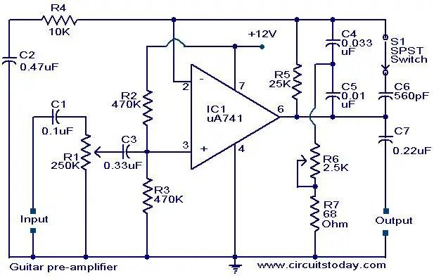 Wiring Diagram For Guitar Amp Wiring Diagram