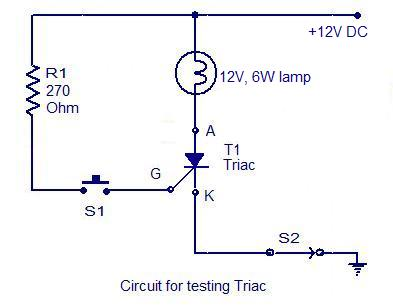 How to test an SCR - Electronic Circuits and Diagrams-Electronic
