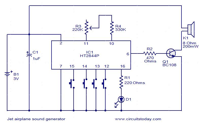 circuit description of machine sound generator