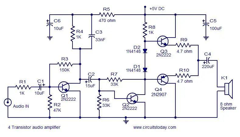 rona rona hue mini transistor audio amplifier