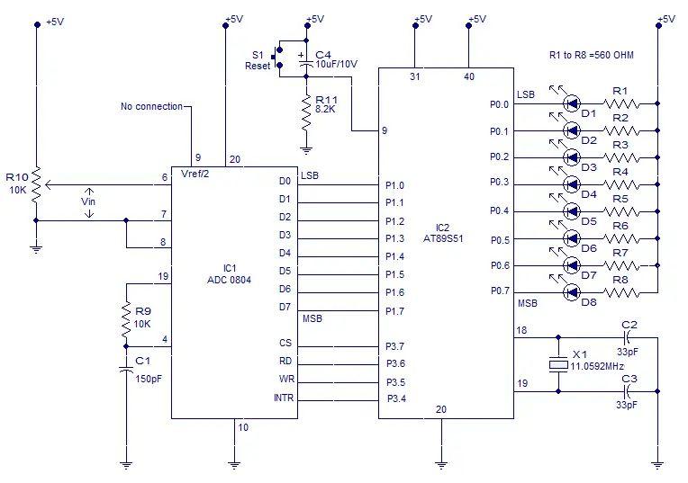8 bit adc circuit diagram