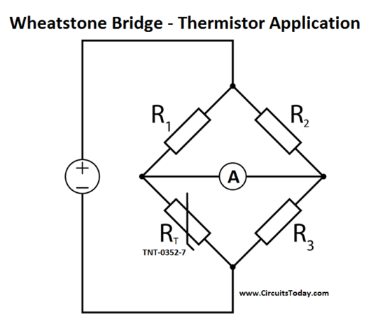 wheatstone bridge circuit schematic diagram