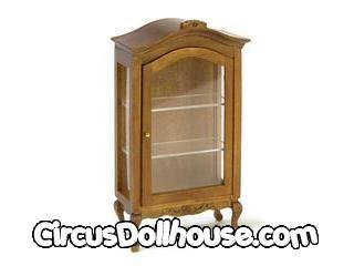Curio Cabinet Walnut Cb Circus Dollhouse