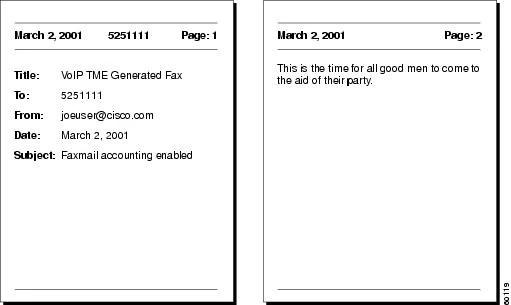 Fax Services - Cisco - fax examples