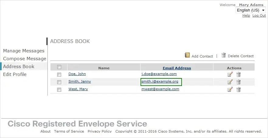Cisco Registered Envelope Service 534 Recipient Guide - Sending