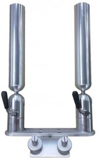 Double Aluminum Rod Holder on Sport Lund Mount | Cisco