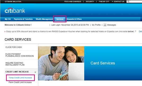 Credit Card Limit - Increase Credit Card Limit - Citibank Malaysia