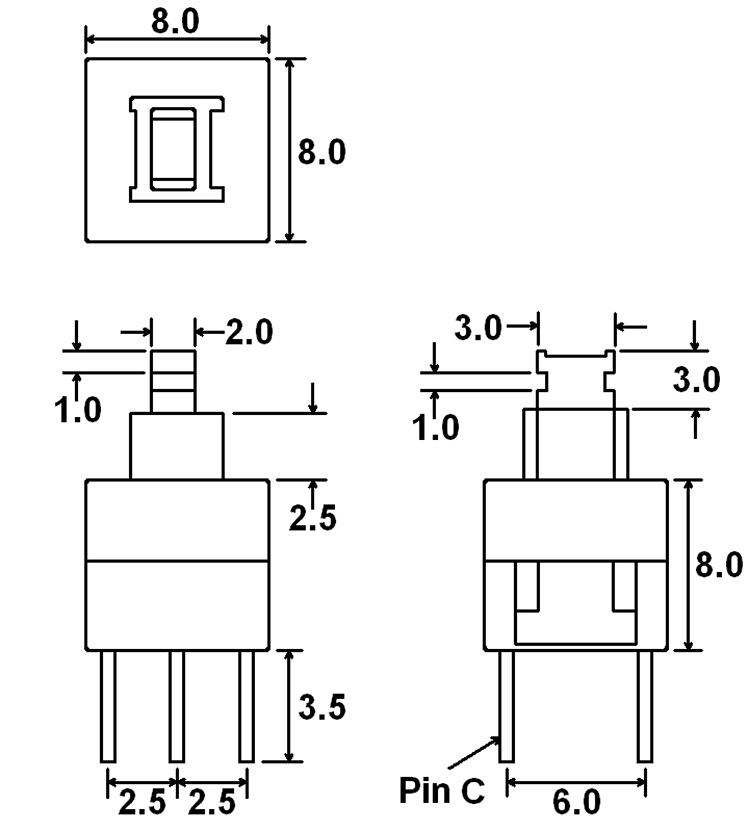 relay switch push button