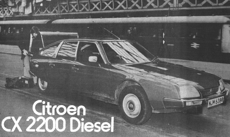Citroën CX 2200 Diesel Autotest by Autocar in 1977