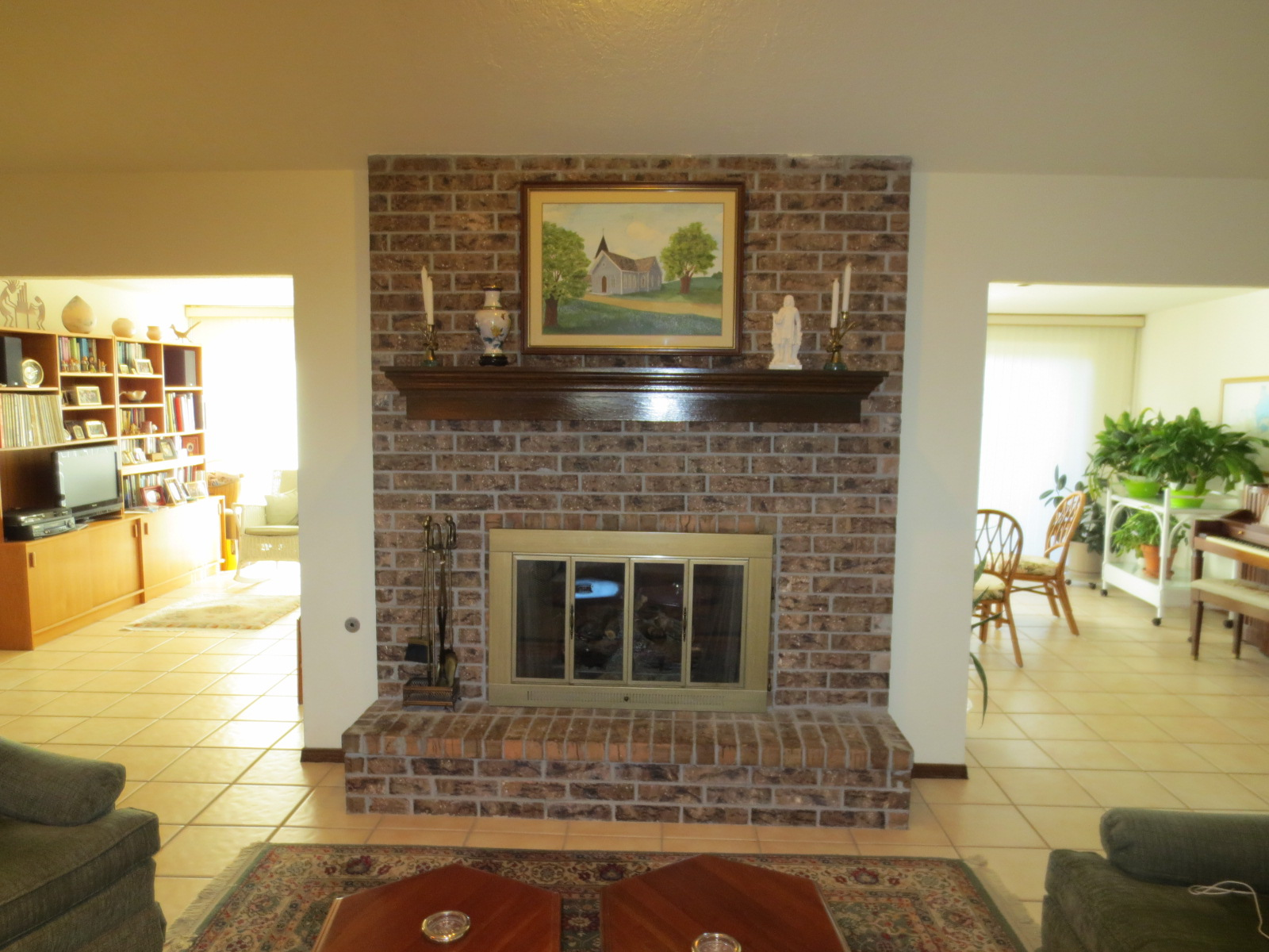 Fireplace Update Suggestions Granite Floor Paneling