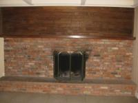 How to remodel this ugly 1970s fireplace? (paneling, paint