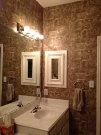 Master bathroom wallpaper HELP (vinyl, paint, sand, color ...