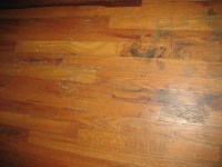 wood floor under my (purple) carpet (floors, heater ...