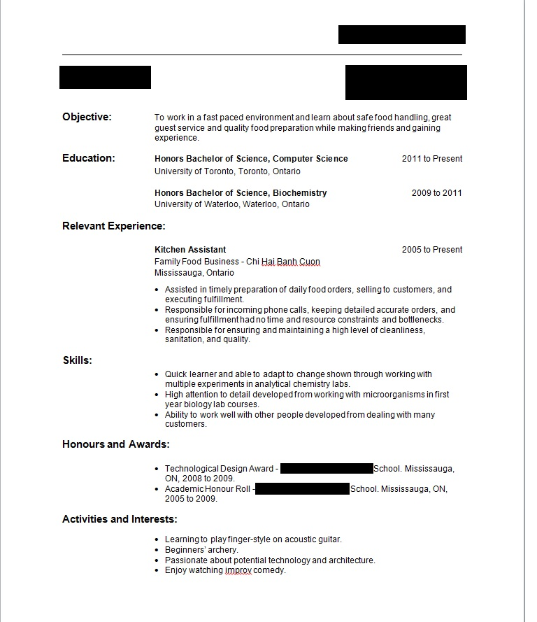 First Job Resume - No work or volunteer experience, have social - resume working experience