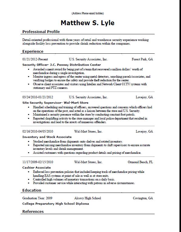 msl resume sample