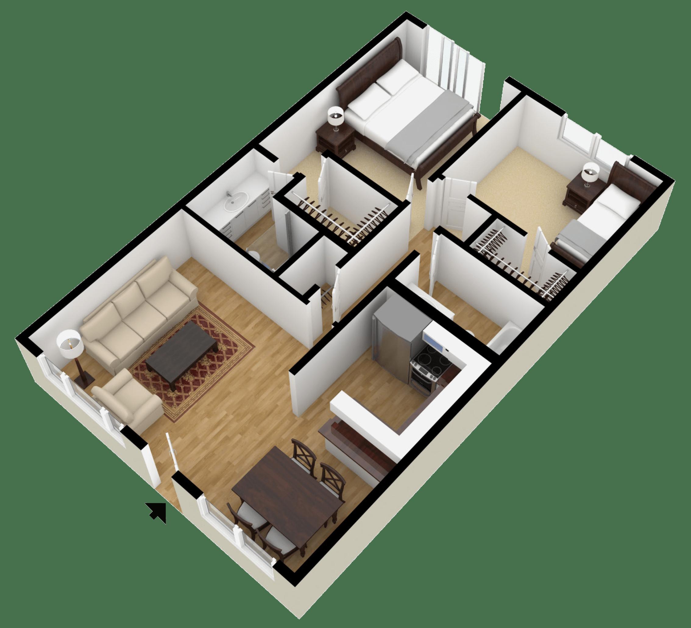 Studio 1 2 Bedroom Floor Plans City Plaza Apartments