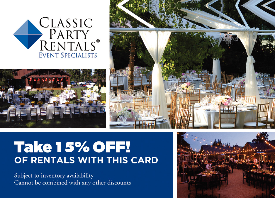 Classic Party Rentals - party rental flyer