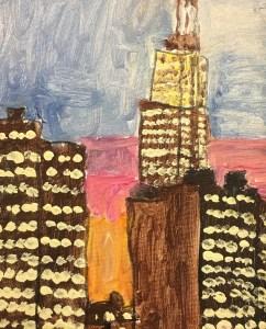 "Susan Brown, ""NYP Pass,"" mixed media on canvas board, 8"" x 10"", 2011"