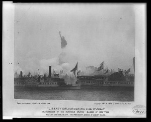Photograph of the October 28, 1886 Inauguration of Liberty Enlightening the World. Courtesy of the Library of Congress