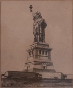 Statue of Liberty post card, part of The City Reliquary Permanent Collection