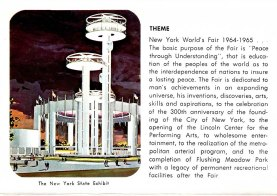 Souvenir postcard featuring Phillip Johnson's New York State Pavillion, 1964. Courtesy of Patty Knoetgen, Private Collection.
