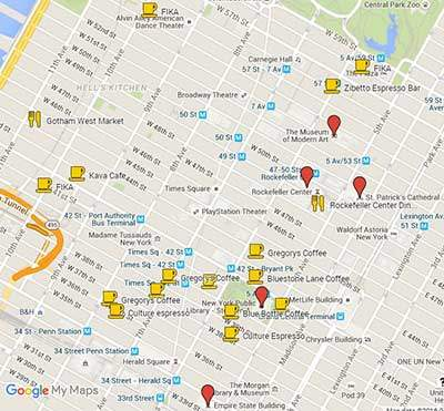 Best Coffee Shops in NYC Manhattan Neighborhood Guide With Maps