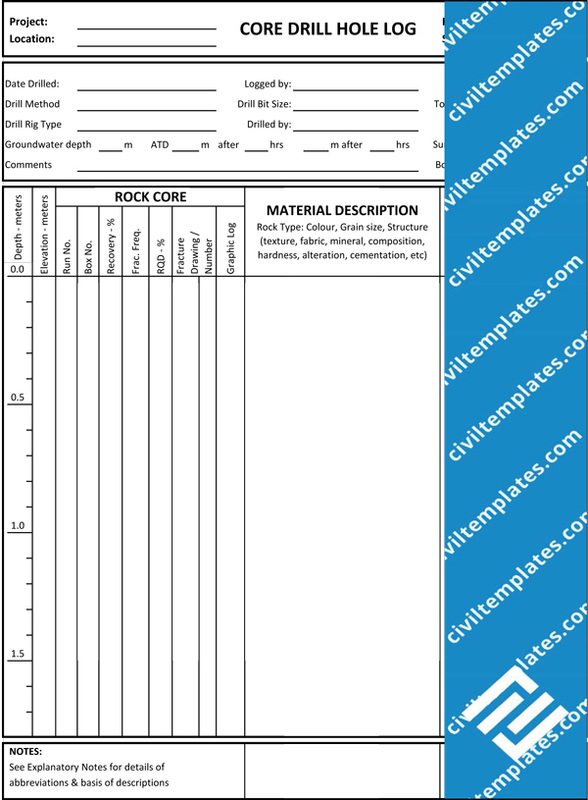Geotechnical Investigation - Civil Engineering Templates - log templates