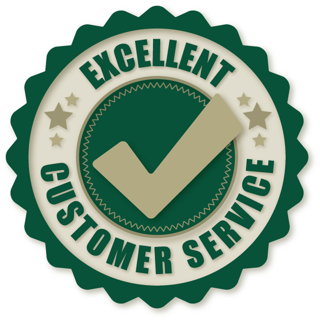 Excellent customer Service-Badge - C J Reseach Chemical Store