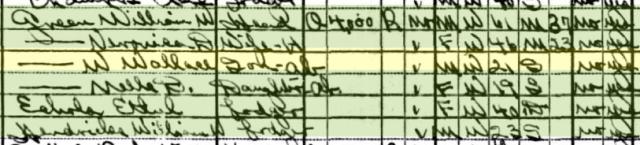 Wallace on the 1930 U.S. Census in Phoenix, Arizona.