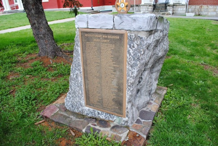 Harless Ferdinand Revolutionary War Plaque Giles County