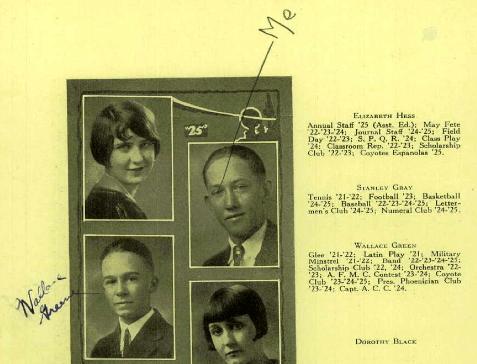 William Wallace Greene, 1925 Class Photo
