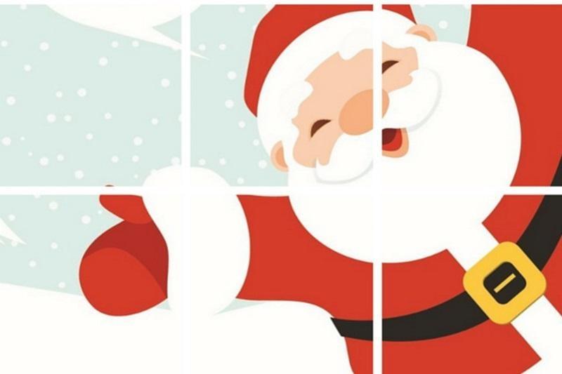Santa - Preschoolers Puzzle Free Printable - Creative Kitchen