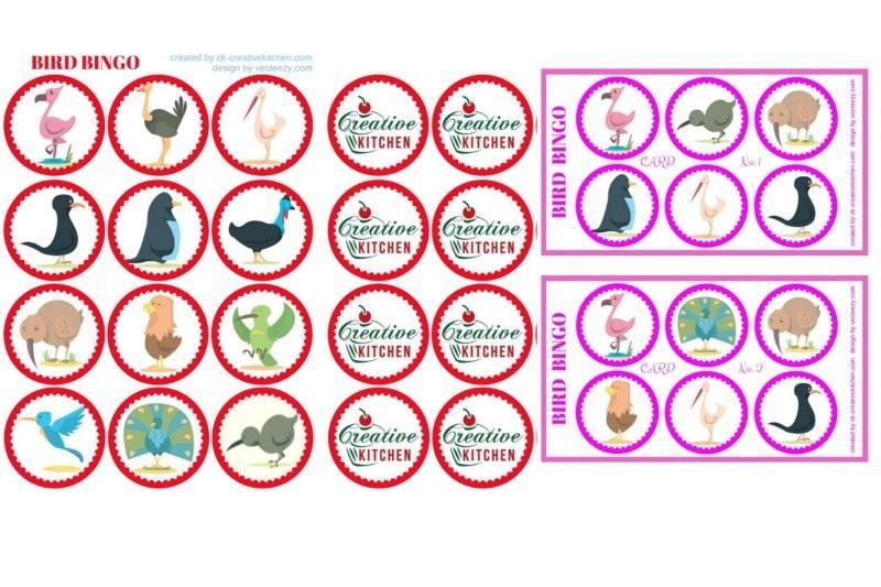 Bird - Bingo card free printables - Creative Kitchen