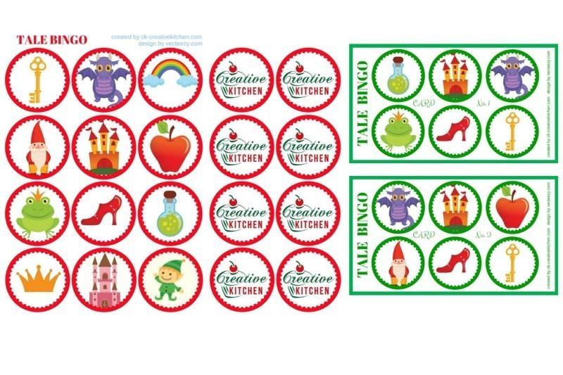 Tale - Bingo card free printable - Creative Kitchen