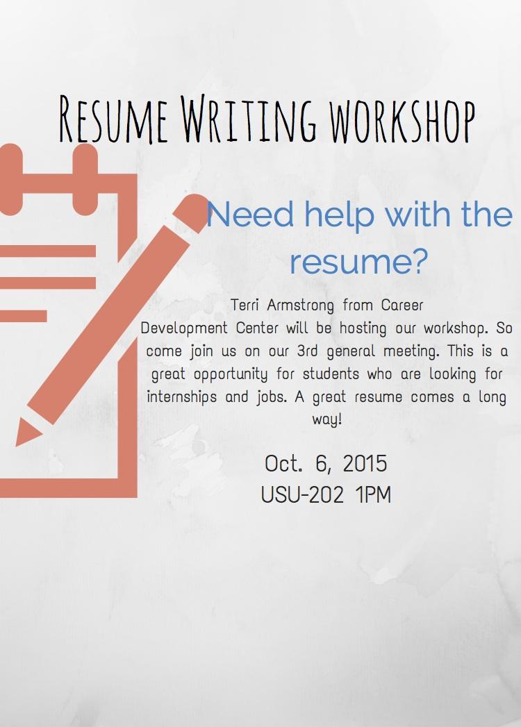 Resume Workshop \u2013 HDSA 3rd Meeting \u2013 Human Development