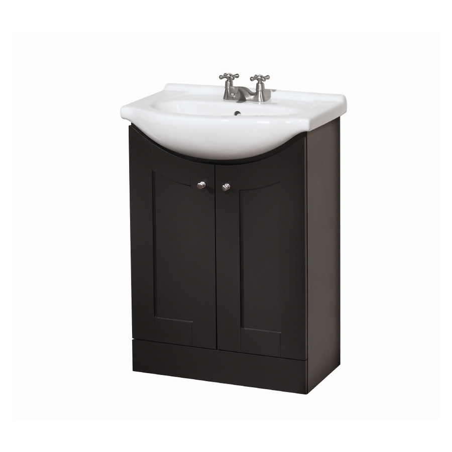 Bathroom vanities lowes design with dark wooden material finished with