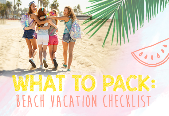 What to Pack Beach Vacation Checklist - #ClairesBlog - summer vacation checklist