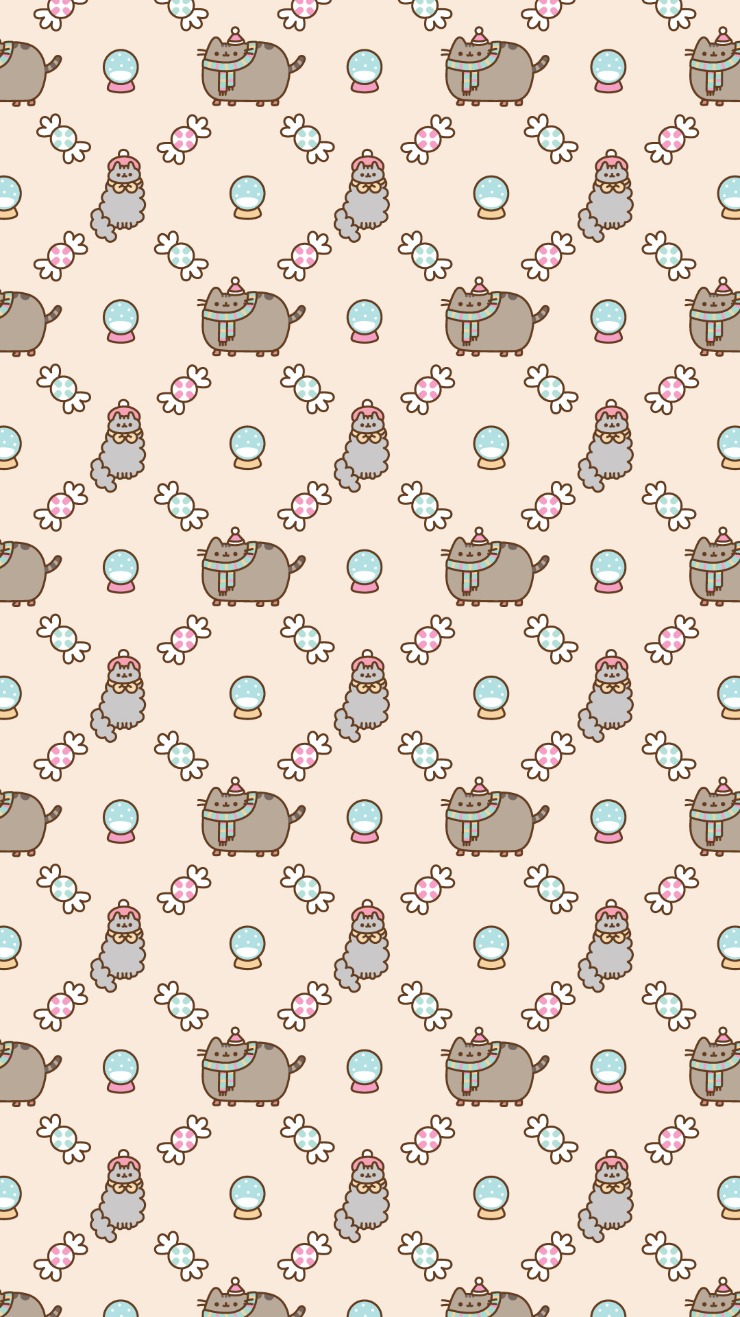 Pusheen Iphone Wallpaper Cute Free Christmas Pusheen Android And Iphone 174 Wallpapers