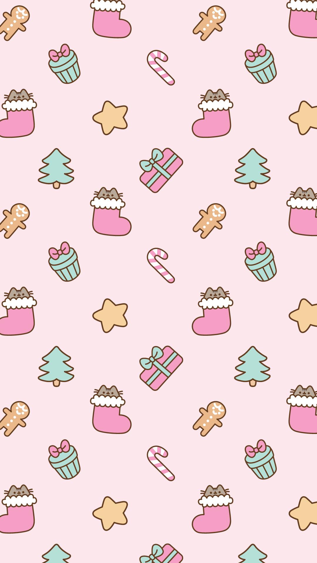Disney Cute Kawaii Wallpaper Free Christmas Pusheen Android And Iphone 174 Wallpapers