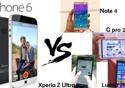 Comparamos o polêmico e 'gigante' iPhone 6 plus da Apple com os seus rivais