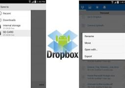 DropBox para Android agora armazena arquivos no cartão SD